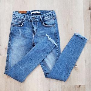 ZARA Trafaluc Distressed Denim Jeans